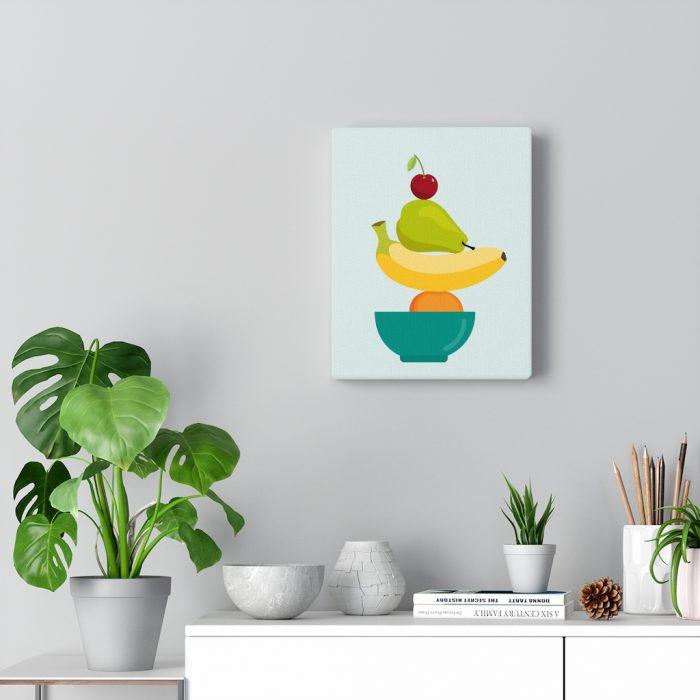 meditation canvas fruit stacked like meditation stones