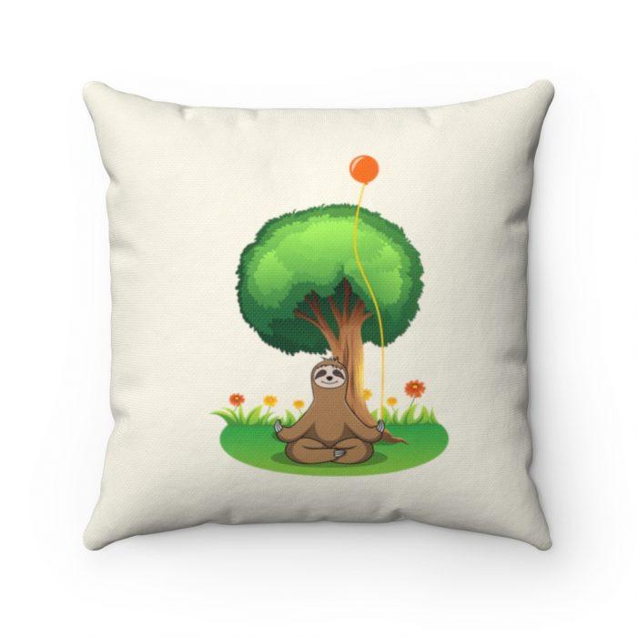 sloth mindfulness pillow