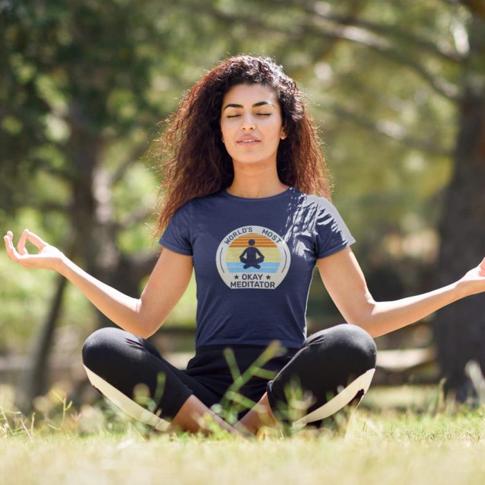 funny meditation shirt gift