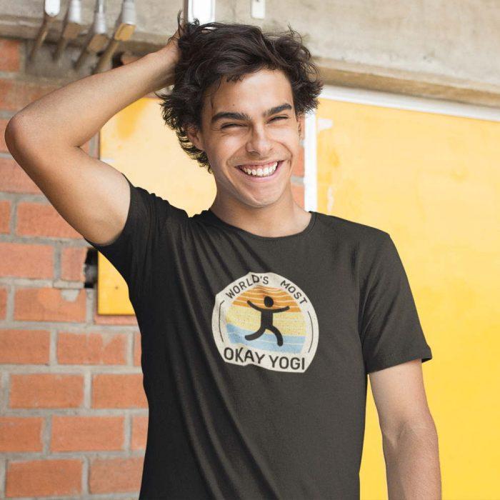 world's most ok yogi funny shirt