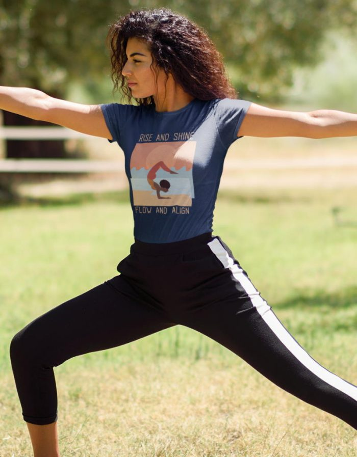 rise and shine yoga shirt
