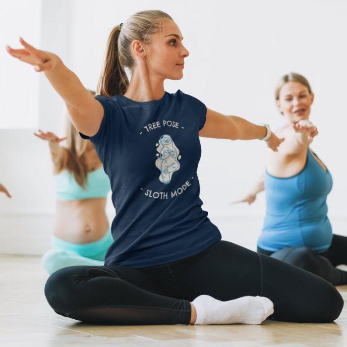 yoga shirt tree pose sloth mode